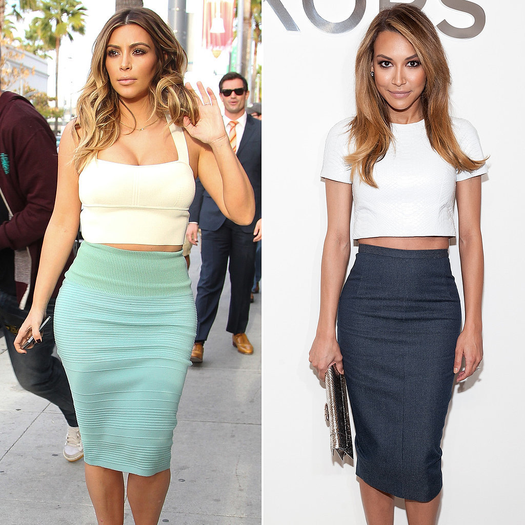 They Pair Crop Tops With Pencil Skirts