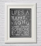 """Life's a Happy Song"" Wall Art"