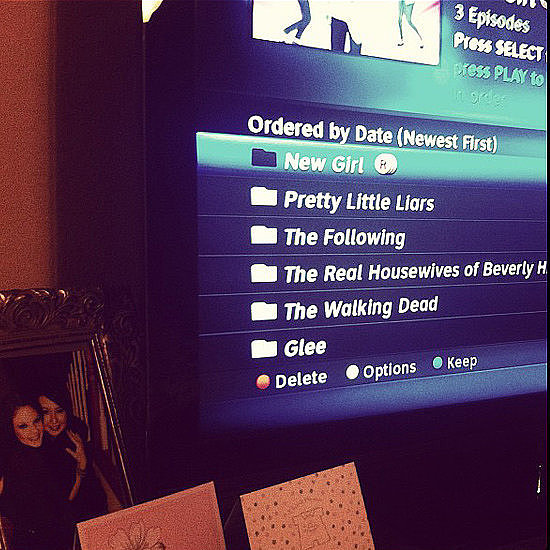 Don't miss a single show — clear out your DVR que and make room for your favorites.  Source: Instagram user whitters03