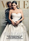 Upon release, Kim and Kanye's Vogue cover drew intense reactions from the likes of Naomi Campbell, Sarah-Michelle-Gellar, and the fashion industry. Source: Vogue / Annie Leibovitz