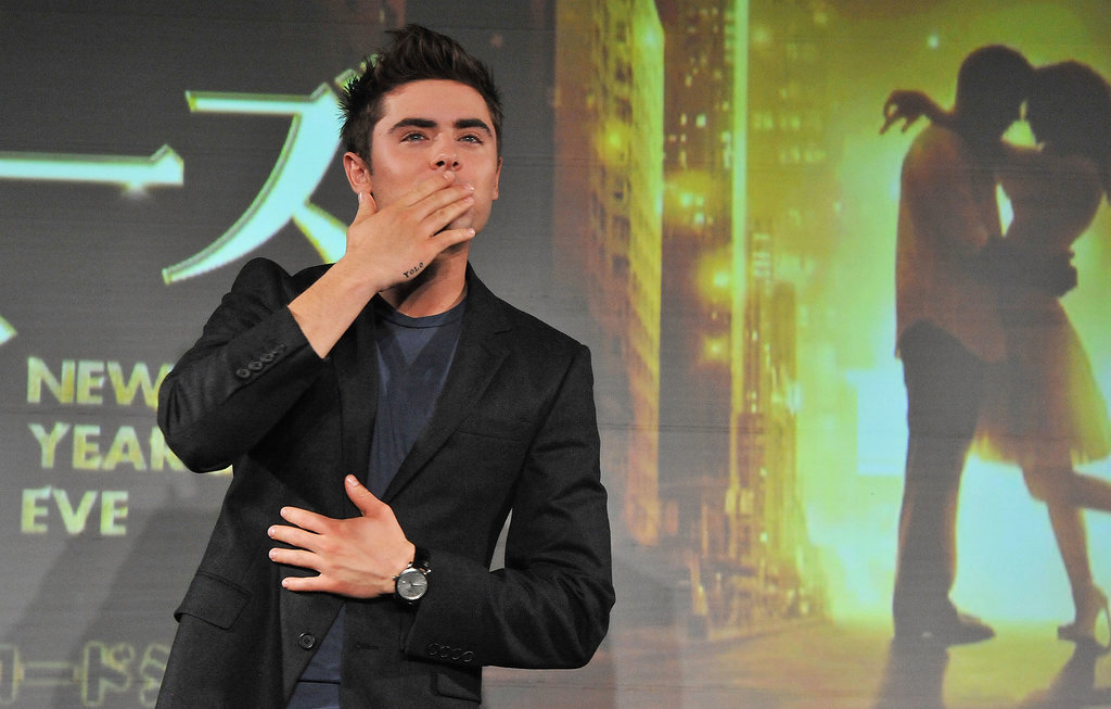 In 2011, he really put on the charm by blowing kisses.