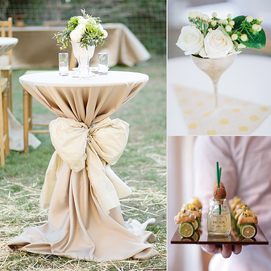 Wedding cocktail reception decor popsugar home for Home wedding reception decorations