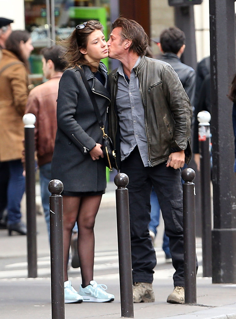 When in France! Sean Penn kissed Adèle Exarchopoulos after grabbing lunch with her in Paris on Saturday.
