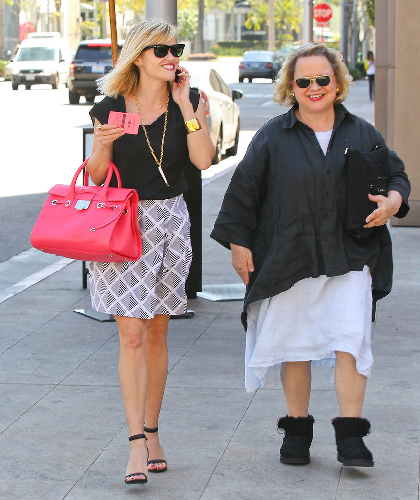 Reese and Betty were all smiles as they got some fresh air in Beverly Hills on Wednesday.