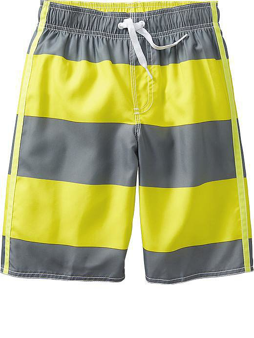 Boys Rugby-Stripe Swim Trunks