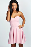 Bohoo Polly Bandeau Skater Dress ($45)