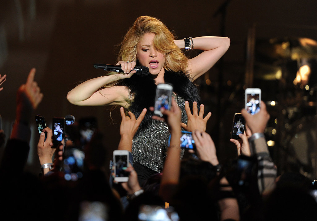 Shakira performed at the iHeartRadio album release party in Burbank on Monday.