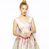 Retro Pastel Floral Vintage Style Prom Dress For Spring 2014