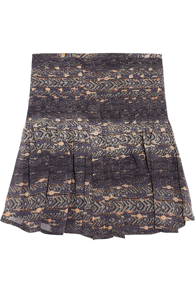 Isabel Marant Nephi Printed Silk-Georgette Mini Skirt ($242)