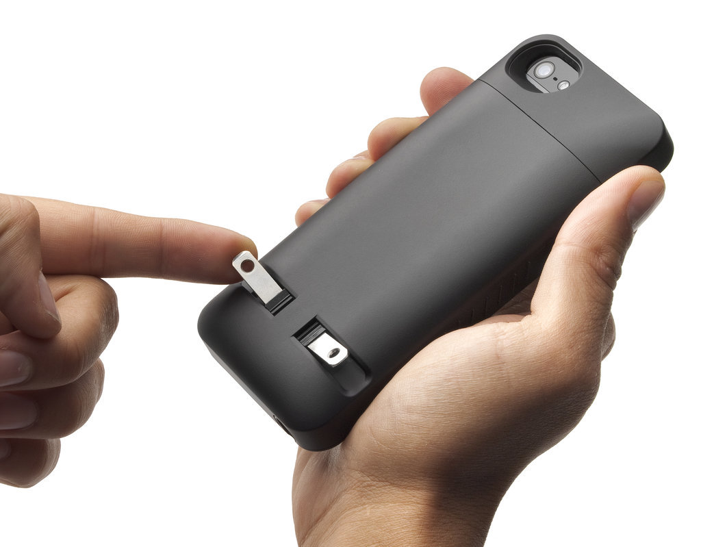 Why hasn't anyone thought of this before? PocketPlug case ($70) was made so you never have to deal with a dead phone again.