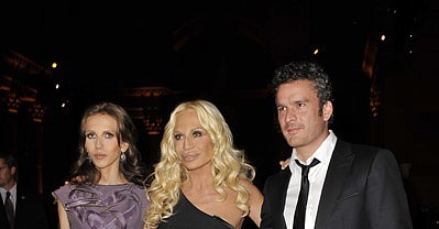 Allegra Versace, Donatella Versace, Balthazar Getty