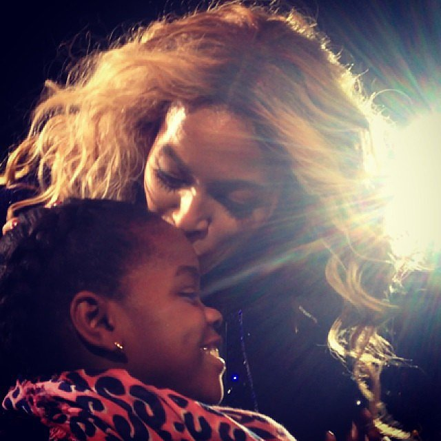 Beyoncé Gave Madonna's Daughter a Smooch