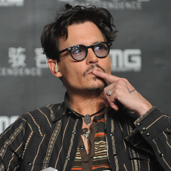 Johnny Depp Wearing Amber Heard's Engagement Ring