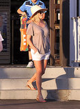 Reese Witherspoon in White Shorts and a Fedora