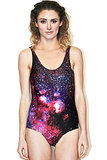 Spiderweb Galaxy Swimsuit ($120)