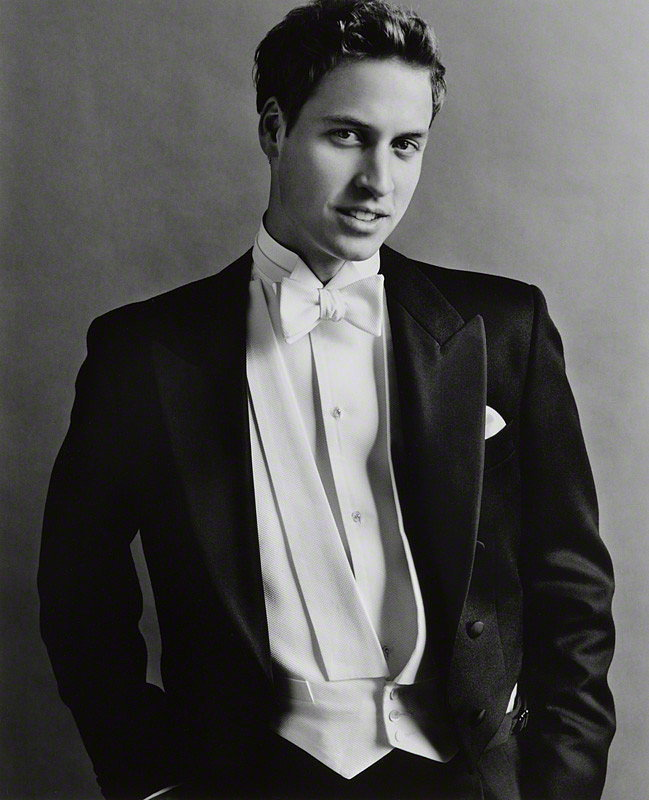 Prince William posed for his 21st birthday portrait, taken by Mario Testino. Source: Photo courtesy of The British Monarchy