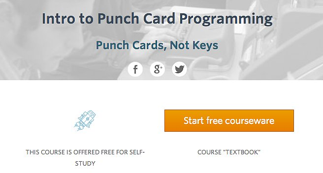 Udacity — Intro to Punch Card Programming