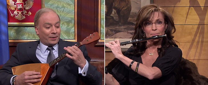 "Jimmy Fallon Covers Pharrell's ""Happy"" — With Sarah Palin?!"