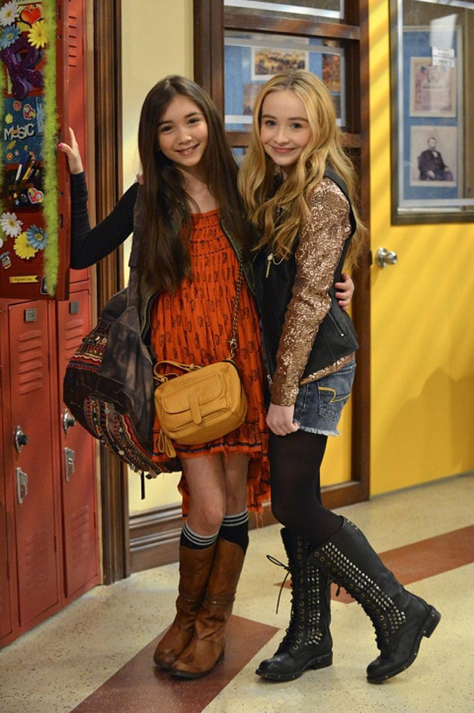 Rowan Blanchard and Sabrina Carpenter as Riley