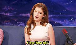 And it's not just celebrities she is obsessed with. She loves Taco Bell.