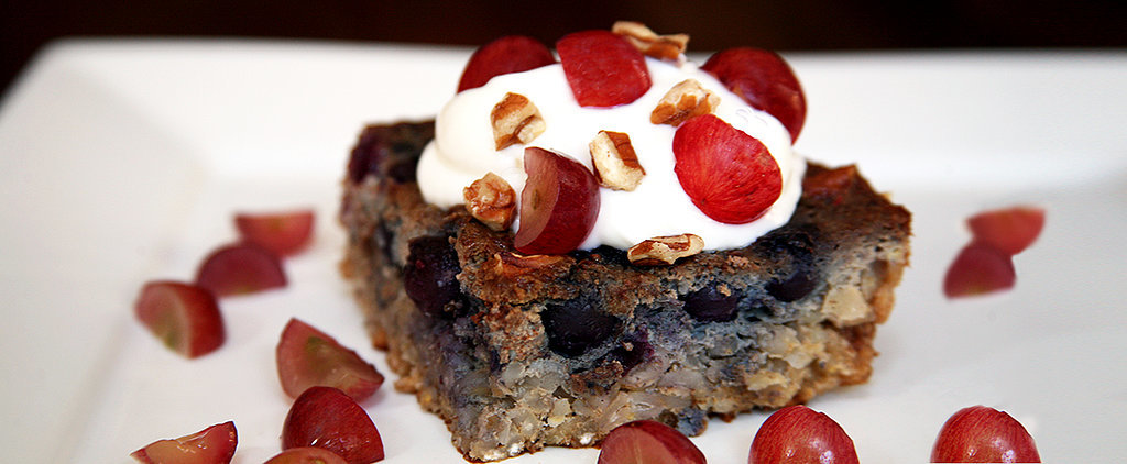 Overnight Blueberry Grape Barley Bake — Under 250 Calories!