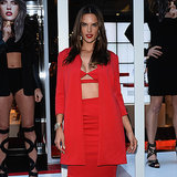 Alessandra Ambrosio Red Crop Top Schutz | Video