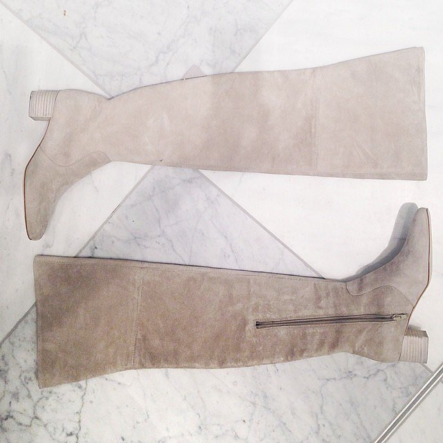These flat (ish) suede boots will be everywhere this Winter. Get your pair first from H&M Melbourne.
