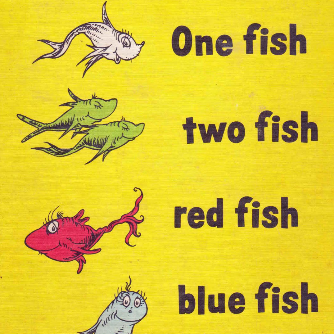 Which sesame street character are you popsugar moms for Red fish blue fish book
