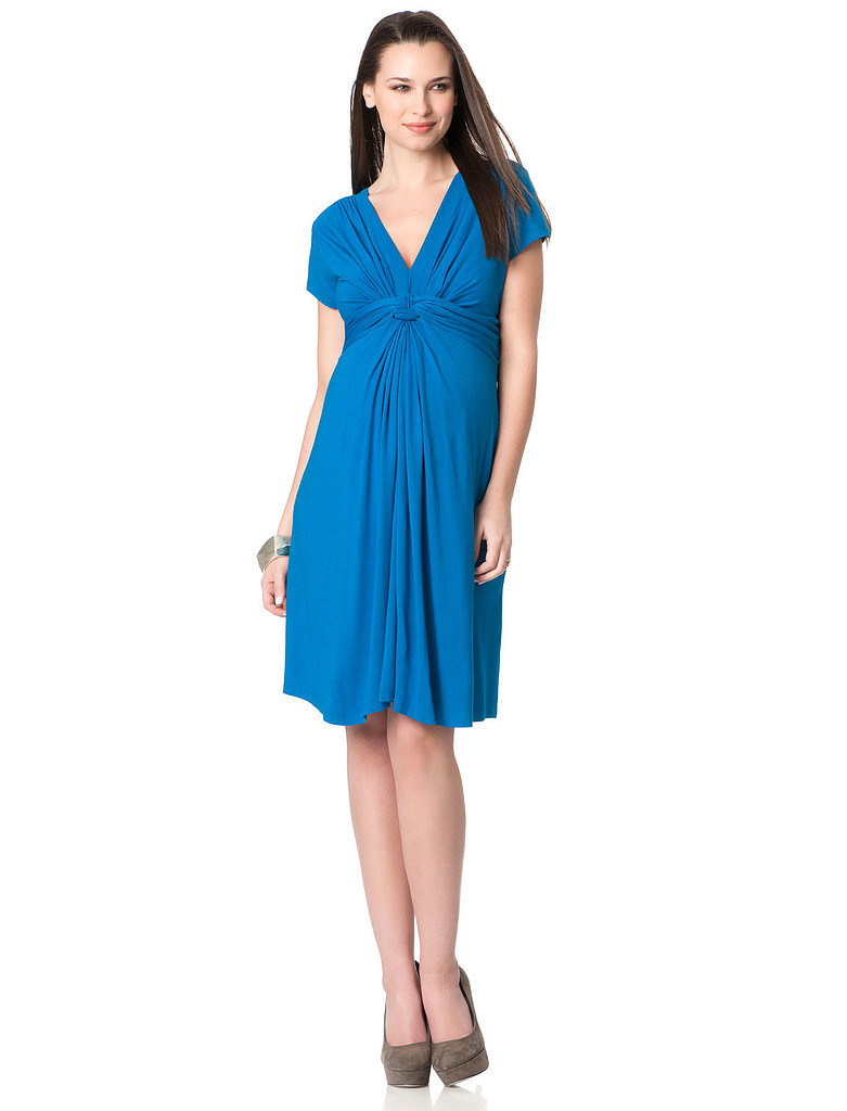 Séraphine Short Sleeve Knot Front Maternity Dress ($79)