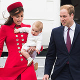Kate Middleton and Prince George Arrive in New Zealand