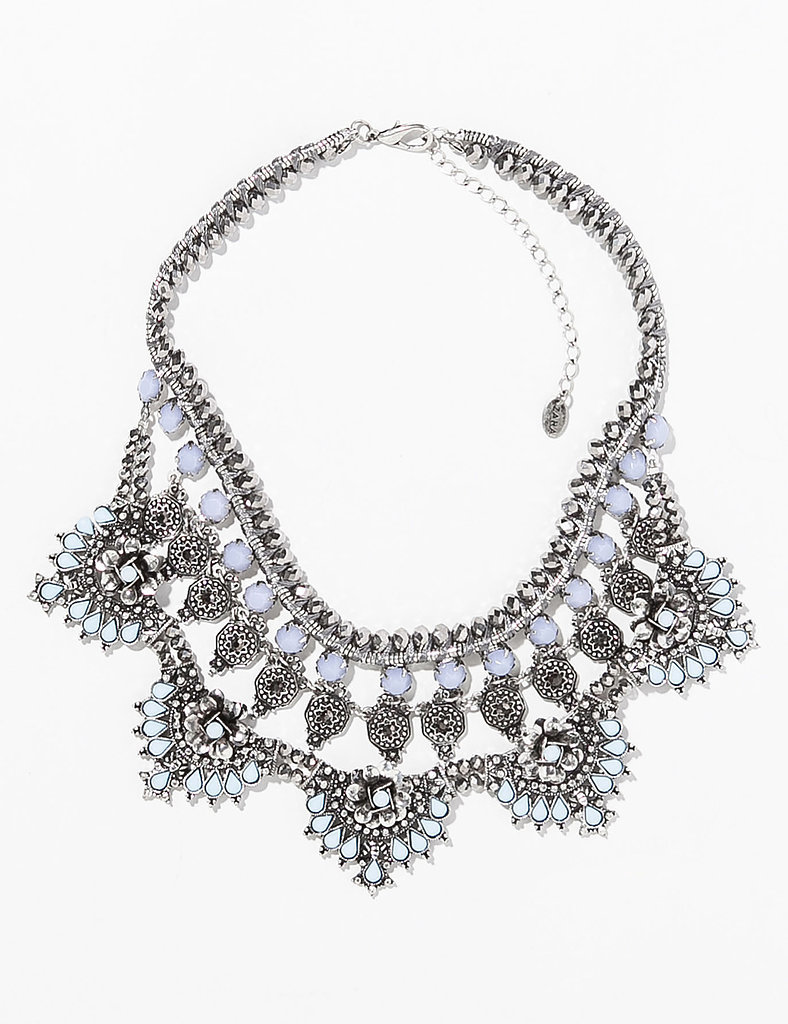 Zara silver and moonstone bib necklace ($40)
