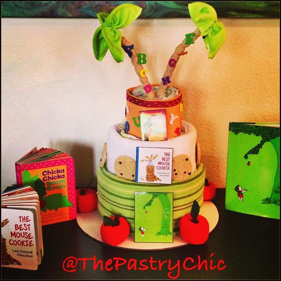 Book-Themed Diaper Cake