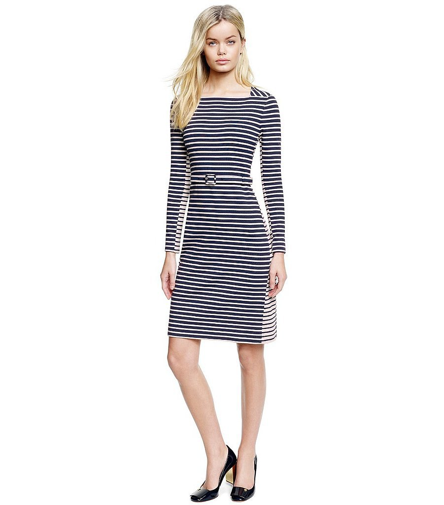 Tory Burch black-and-white striped long-sleeve Callan dress ($325)