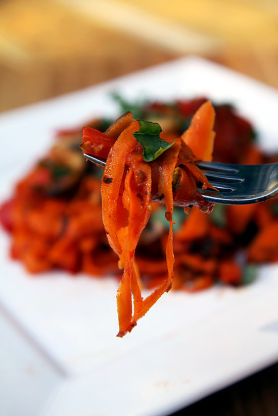 Lunch and Dinner: Carrot Fettucine