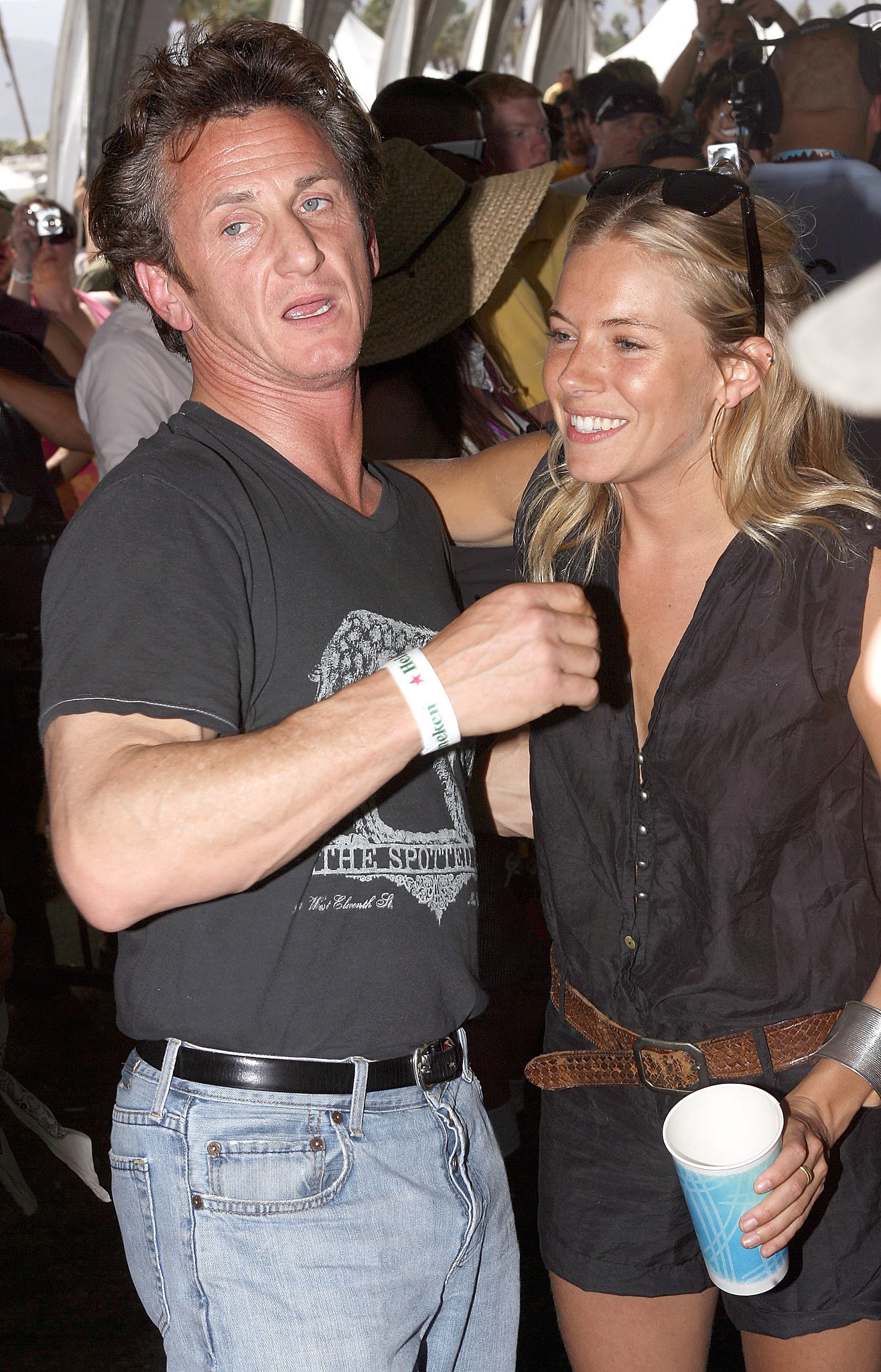 Sienna Miller met up with Sean Penn in 2008.