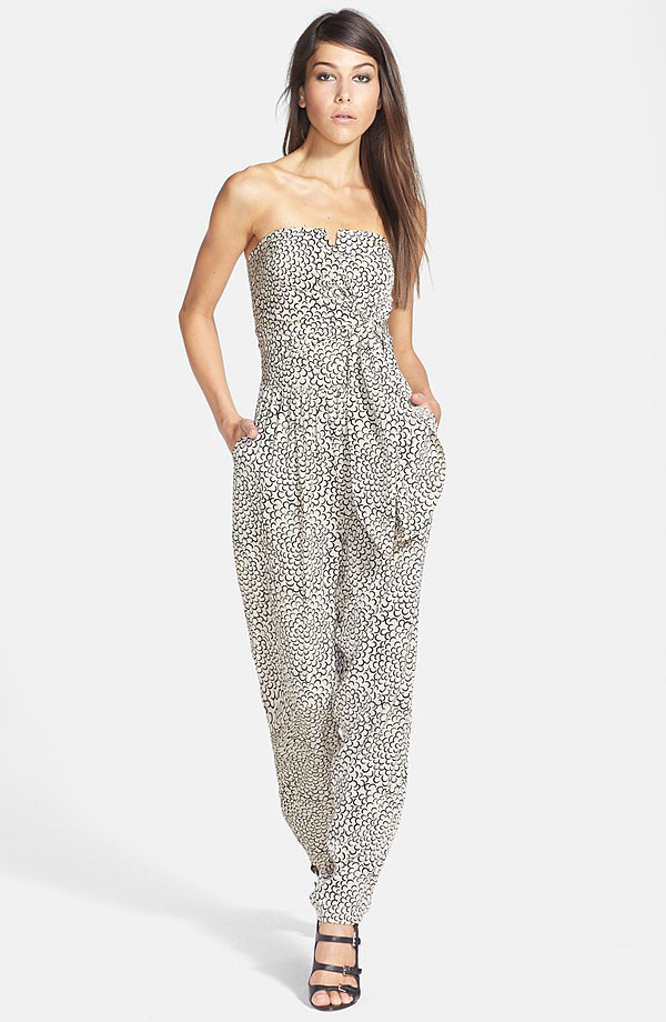 Rules of Etiquette Tie-Front Print Jumpsuit ($68)