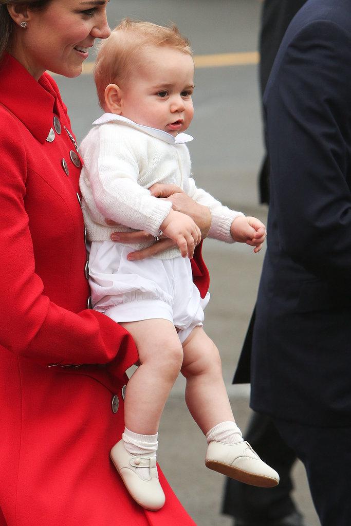 George's adorable smirk.