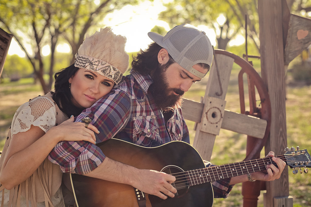 D'laine and Matt's Western Boho Engagement Shoot