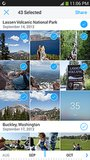 Select hundreds of photos to share at once.