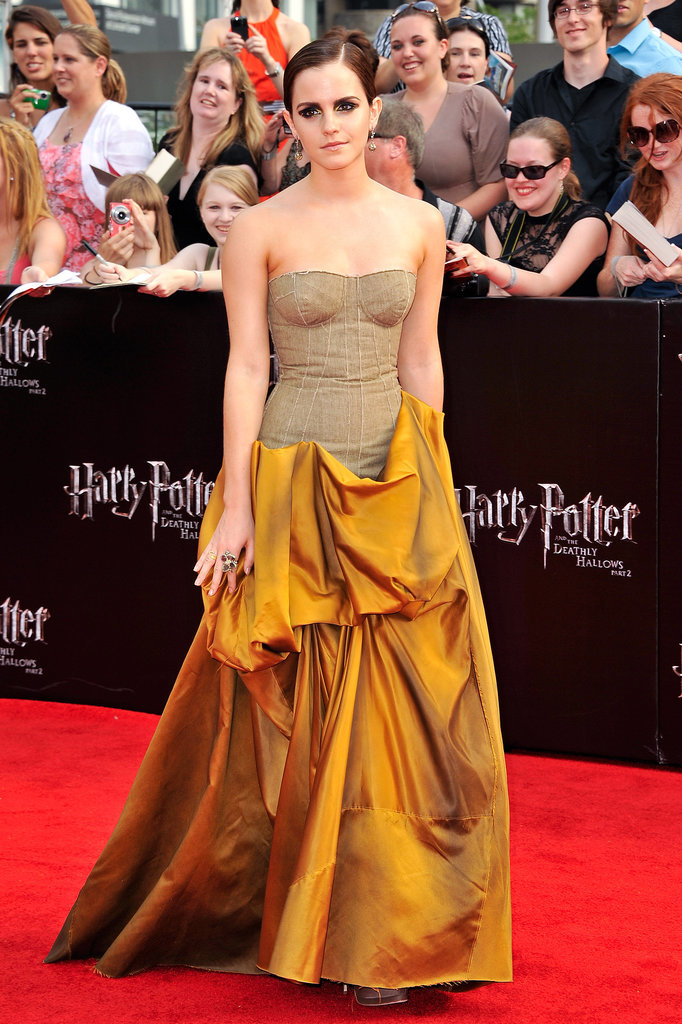 Emma Watson in Bottega Veneta at 2011 Harry Potter and the Deathly Hallows — Part 2 NYC Premiere