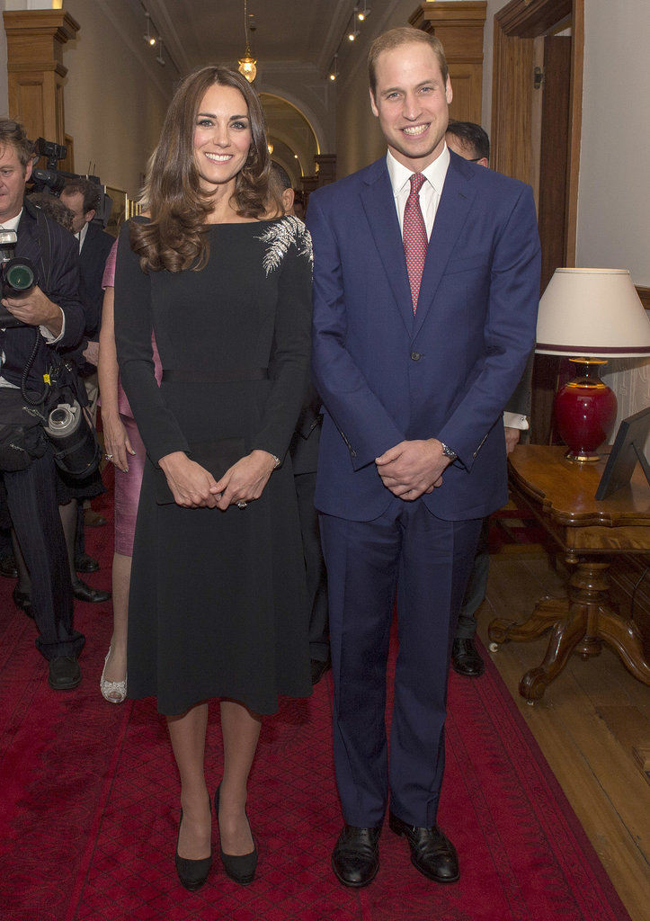 In April 2014, Kate and William smiled during a State Dinner in New Zealand.