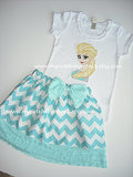 Elsa the Snow Queen Shirt and Skirt