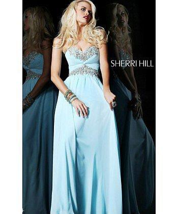 Light Blue Sherri Hill 3859 Classic Prom Dress