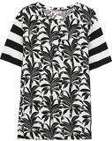 See by Chloé Printed Cotton-Blend Jersey T-Shirt