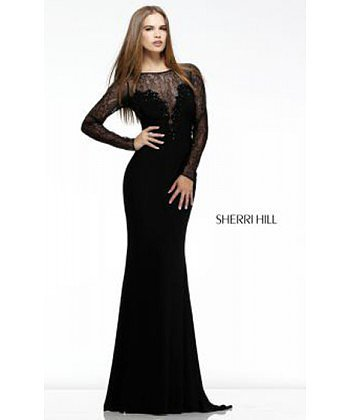 Elegant Sherri Hill 4309 Evening Gown Black