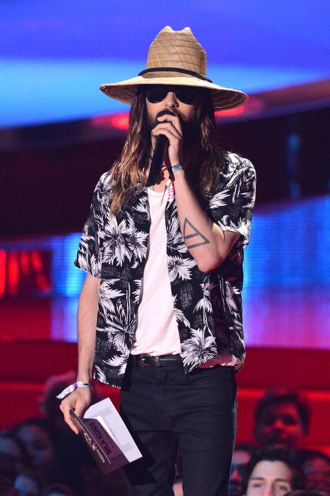 Jared also rocked his music festival ensemble on stage later.