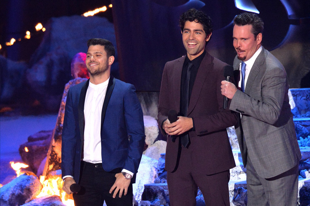 The Entourage cast reunited to present Mark Wahlberg with an award.