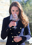With 1 Glass of Wine, Kate Middleton Ends Pregnancy Speculation