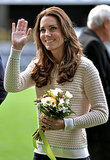 Kate Middleton in a Beige Knit
