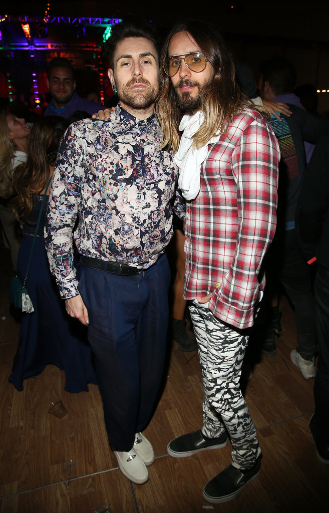 Jared Leto rocked a colorful outfit with Davey Havok.